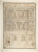 Project for a Façade Decoration (recto); Architectural Studies (verso)