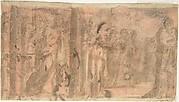 Study of a Scene of Martyrdom (recto); Study of Three Figures (verso)