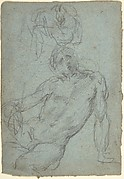 Studies of a Seated Nude Male Figure