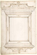 Design for a frame (recto); Design for a cassone (verso)
