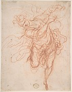 Angel (Recto); Fragmentary Sketches of Same Subject (Verso)