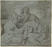 A Youth and Two Girls Singing