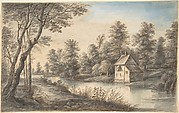 Wooded Landscape with a House beside a River
