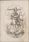 The Month of February: Man Pruning a Tree