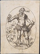 The Month of May: An Elegant Man Holding a Flower and Lute