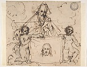 Veronica's Veil Held by Two Angels and God the Father(?)