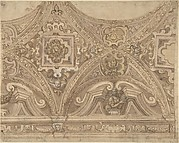 Design for part of a Vaulted Ceiling of a Church