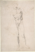 Standing Male Nude Holding a Bow (