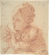 Head and Shoulders of a Mother and Child