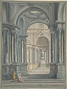 Interior of Temple, Design for Stage Scene