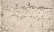 Perspectival Study with a View of a Medieval City