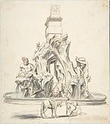 Bernini's Fountain of the Four Rivers in Piazza Navona, Rome.