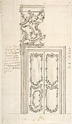 Design for a Door and Stucco Overdoor Decorations
