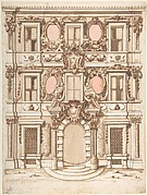 Design for the Facade of a Palace with the Coat of Arms of Pope Clement IX