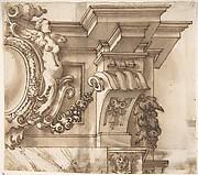 Design for an Overdoor Decoration (?) (recto);  Part of a Doorway (verso)