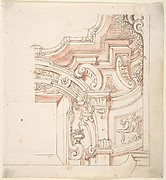 Design for a Portion of Cornice and Ceiling