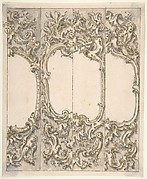 Designs for One Half of a Cartouche in the Rococo style