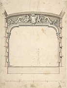 Design for the Proscenium Arch of a Theatre with Two Trumpeting Angels Holding a Cartouche