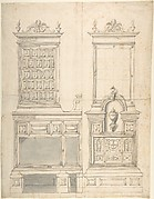 Design for a Stove and Wall Fountain (?)