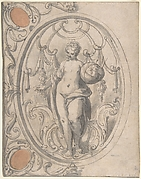 Design for an Ornamental Panel with the Figure of Astronomy