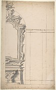 Design for one half of an Altar with a Pilastered Wall at the Right