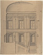 Design for the Elevation of a Palace Interior
