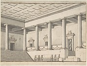 Palace or Villa Interior, Colonnaded Hall