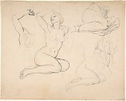 Studies of a Sitting Woman; verso: Studies of Men