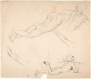 Studies of a Boy Playing the Flute; verso: Studies of Seated Man