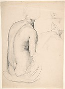 Studies of a Seated Woman from Behind