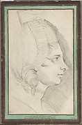 Portrait of a Young Lady Drawn in Left Profile