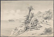 Mediterranean landscape (recto); Mountains (verso)