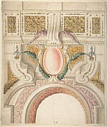 Design for a Part of a Ceiling and a Pediment