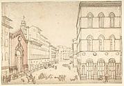 View of Florence: Or San Michele, Towards Piazza della Signoria (Via dei Calzaiuoli)