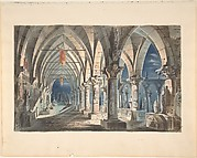 Design for a Stage Set: Cloister at Night