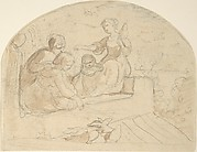 Three Women and a Child on a Roof