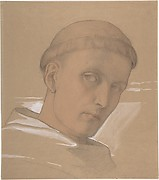 Study of the Head of St. Augustine, for the painting of the Madonna and Child with Saint Augustine and Bonifacius (1846)