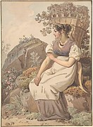 Young Woman in the Vaudois after the Grape Harvest