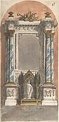 Design for an Altar with a Statue of the Virgin and Child.