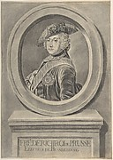 Portrait of Frederick II of Prussia, after Antoine Pesne