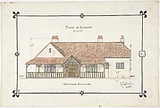 Bungalow drawing -- Southern Elevation