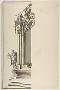 Design for an Aedicular Altar with St. Paul at the Left