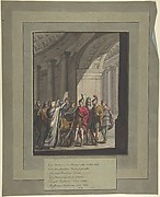 Allegory of Victory of Russians over Napoleon's Army, from a poem by Cremes