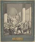 Assembly of Roman Figures, from Regulus, a play by Collin