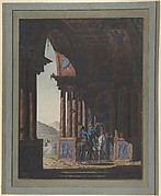Two Mounted Soldiers in Classical Ruins, for a poem by Cremes