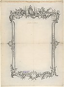 Design for Frame with Ecclesiastical Motifs