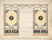 Design for a Room in the Etruscan or Pompeian style (Elevation)