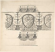 Classical Design Element with Leaves and Vines