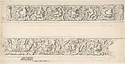 Sketch of Two Friezes, Palazzo Mattei