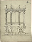 Design for a Gothic Cabinet
